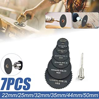 Jeeke 7Pcs Stump Remover Grinder Chain Angle Grinder Cutting Wheel Grinder Tool Cutoff Accessory