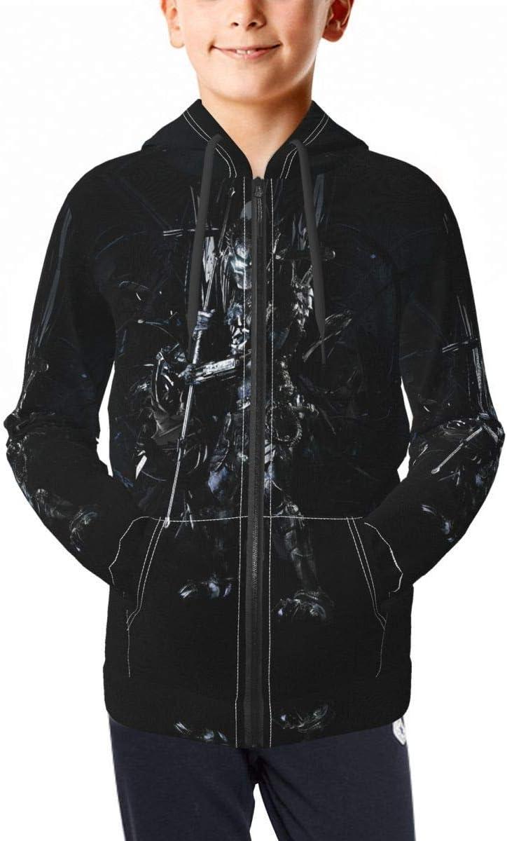 Unisex Teens Top Alien Vs Predator Hoodies Sweatshirt Outdoor T-Shirt Zip Hooded for Youth Boys/Girls 7-8 Years