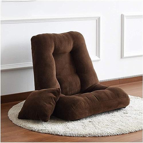 GFF Chambre Simple Petit canapé canapé Paresseux Se Pliant lit Multifonctionnel Mignon Baie vitrée Chaise Paresseux (Couleur  Brun foncé)