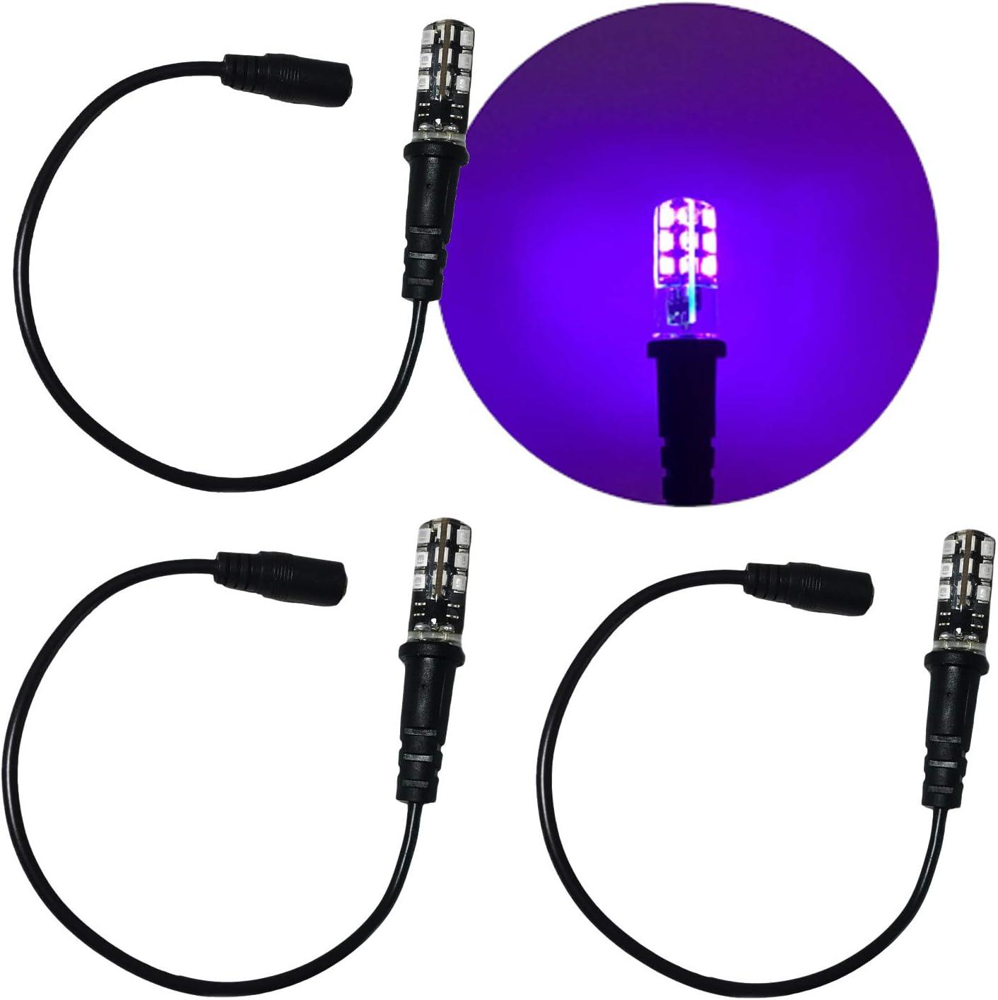 Bargain 3 Award Pack Black Light Special Effects 12 Volt Bulbs Ultraviolet Led