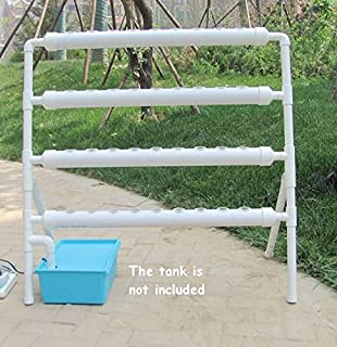 INTBUYING Hydroponic 36 Plant Site Grow Kit and Flow Deep Water Culture with 36 Nest Basket Vegetable Planting System Kit (4-Pipe 1-Layer)