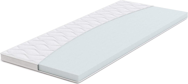 Amazon Basics - Sobrecolchón, espuma de alta resistencia, blando H2 - 200 x 200 cm