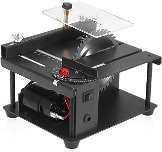 lifcasual Mini Table Saw Multi-Functional Mini Desktop Saw Cutting Set with Adjustable-Speed Saw Blade, 0°-90° Angle Adjus...