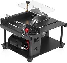 Festnight Sierra de mesa multifuncional de 110-240 V, mini cortadora de sierra de escritorio, cortadora eléctrica con hoja de sierra, velocidad ajustable, profundidad de corte de 35 mm para corte de m