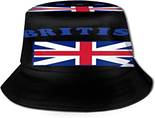 Fisherman Hat British Flag Bucket Hat Unisex 3D Printed Packable Bonnie Cap UV Protect Lightweight Sun Hat for Picnic Hunting Fishing Golf Hiking