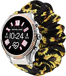 Compatible for Michael Kors Lexington Band, Blueshaw Fabric Elastic Scrunchie Elastic Watch Band Women Cute Replacement Straps Compatible for Michael Kors Access Gen 5 Lexington Smartwatch