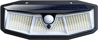 【2021年最新版268 LED】センサーライト 屋外 ソーラーライト268LED 4面発光 防犯ライト 高輝度 3つ知能モード 太陽光発電 人感センサー付き ガーデンライト800ルーメン 自動点灯 屋外照明 庭 玄関 ガーデンライト 駐車場 ...