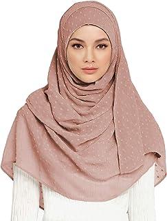حجاب أوشحة للنساء شيفون أغطية رأس سادة لون عصري وشاح شيفون