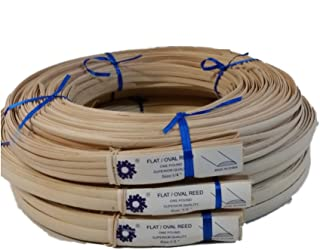 1 Pound Coil of Flat Oval Reed for Basket & Seat Weaving, Natural Color, Any Width, 1/4