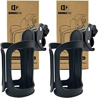 Pack of 2 Stroller Cup Holders, Universal Drinks Holder for Bikes, Trolleys or Walkers (2 Pack)