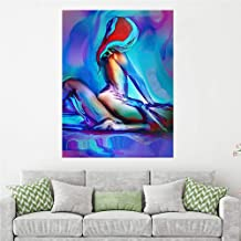 KKJJ Single Panel Print Wall Art Picture Image Printed on Canvas, Neon Sexy Men and Women Abstract Canvas Wall Printed Artwork for Wall Decor - Frameless,5070CM