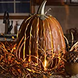 Great Pumpkin Lantern Decoration - Handcrafted Durable Galvanized Steel Structure Rust Resistant - Maintenance Free Beauty Remains Through Many Seasons Outdoors