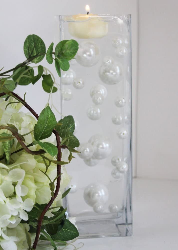 34 White Pearl Beads -Unique Vase Free JellyBeadZ Ge with Filler Luxury goods Max 58% OFF
