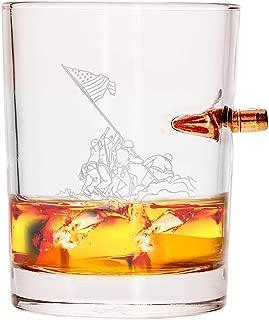 Lucky Shot .308 Real Bullet Handmade Whiskey Glass - Iwo Jima