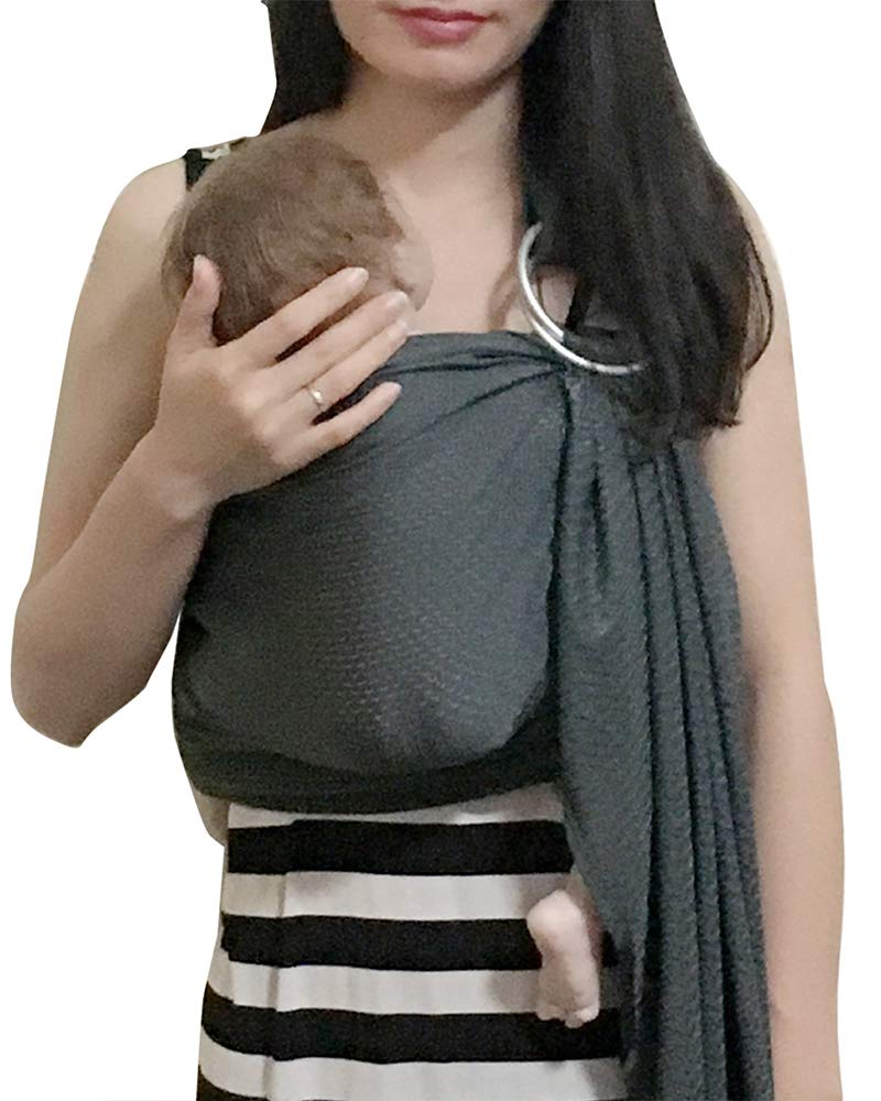 Vlokup Baby Water Ring Sling Carrier   Lightweight Breathable Mesh Baby Wrap for Infant, Newborn, Kids and Toddlers   Perfect for Summer, Swimming, Pool, Beach   Great for Dad Too Grey