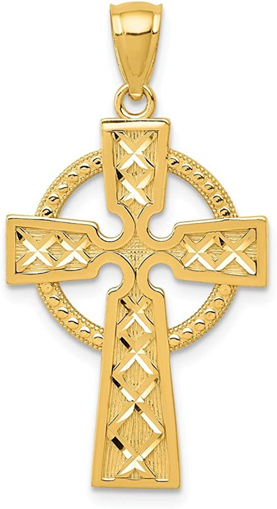 14K Yellow Gold Cross Celtic Be Brand Cheap Sale Venue super welcome Pendant