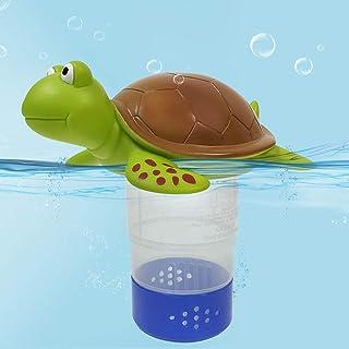 """Chlorine Floater, Floating Chlorine Dispenser, Floating Chlorinator for Chemical Tablets Fits 3"""" Tabs Bromine Holder. (Tur..."""