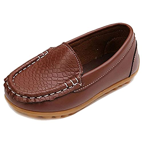 31bb981a2e147 E-FAK Toddler Boys Girls Soft Synthetic Leather Loafers Slip On Boat Dress  Shoes Flat