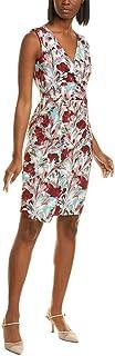 BLACK HALO Womens Aqua Floral Sleeveless V Neck Above The Knee Pencil Dress AU Size:10