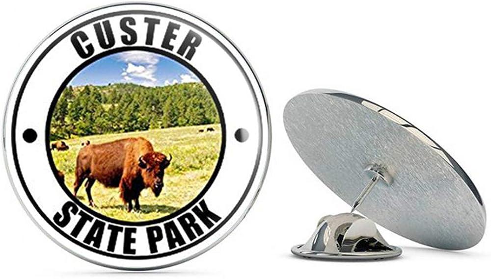 NYC Jewelers Round Custer State Park (Black Hills Dakota sd) Metal 0.75