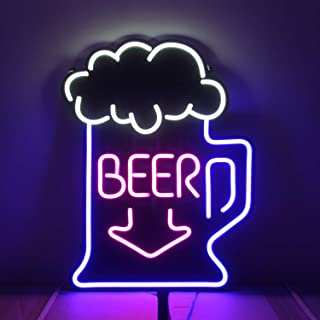 25.5 x 19.6 inches Giant Neon Signs, Large Neon Light Sign, Oversized Led Neon Lamp, Wall Sign Art Decorative Signs Lights, Neon Words for Home Room Decor Bar Beer for Party Holiday Sign - (Cool Beer)
