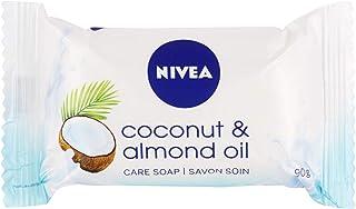 NIVEA Coconut & Almond Oil verzorgende zeep in een verpakking van 1 (1 x 90 g), romige zeep met een delicate, frisse kokos...