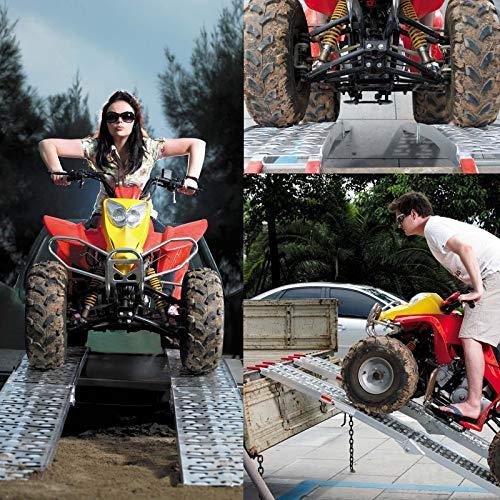 2x Rampe de chargement Moto ATV Pliable Aluminium Rail d'accès 223cm 680kg