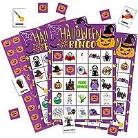 Ouneno Halloween Bingo Game Cards