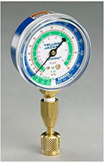 Yellow Jacket 40345 Blue Single Test Pressure Gauge (R22/R410A/R404A) W/12