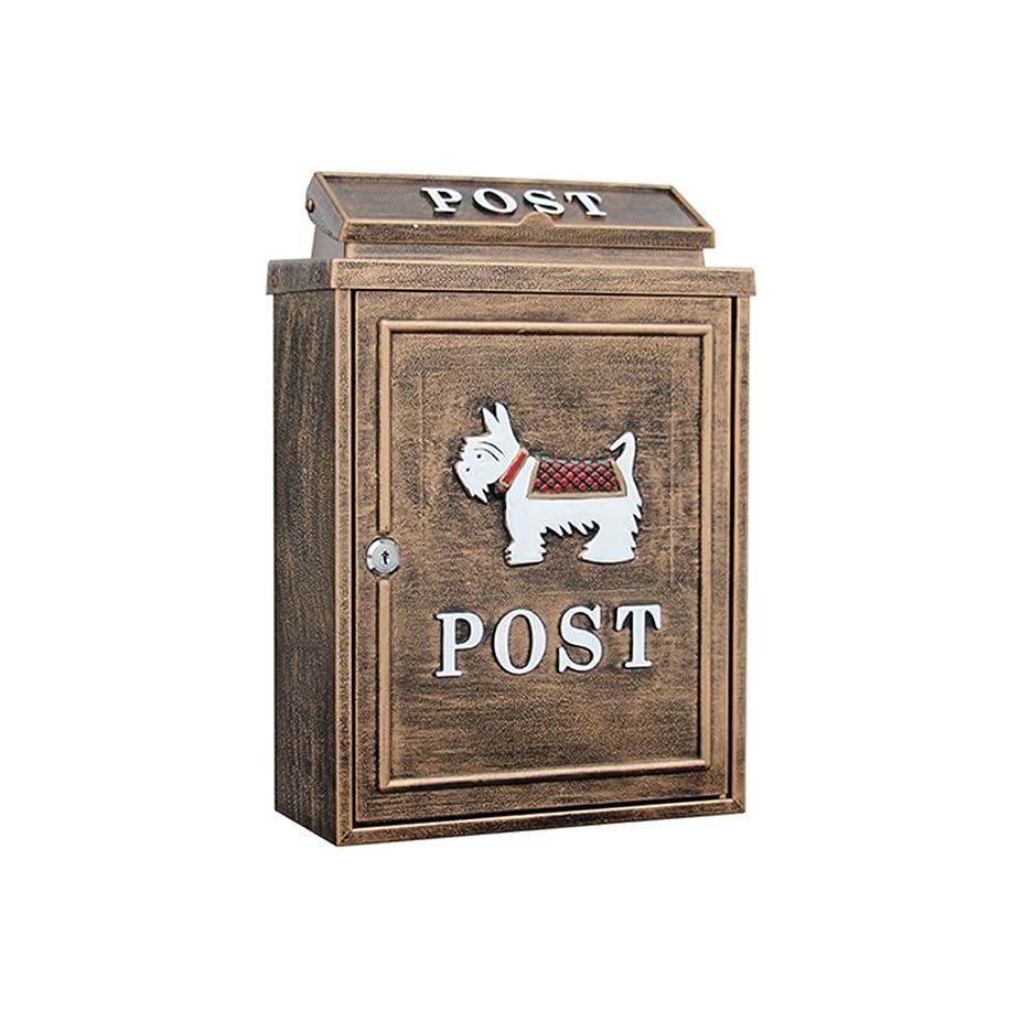 読書をする寛大な首TLMY 屋外の防水ヴィラのメールボックスの壁のロックメールボックスの田舎の創造的なメールボックス メールボックス (色 : 白)