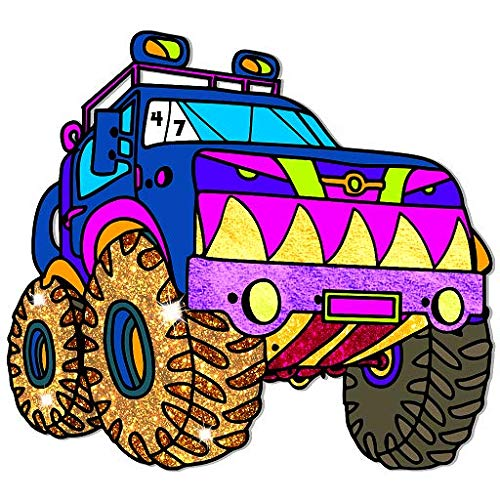 Vehicles Paint by Number - Grownups Paint + Glitter + Crayon + Oil Paint Coloring Pages