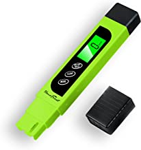 Digital TDS-Meter, Accurate and Reliable, HoneForest TDS, EC & Temp Meter 3 in 1, 0-9990ppm, Ideal Water-Tester-PPM-Meter(Green)