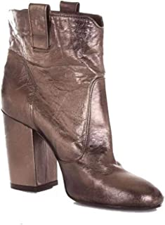 STRATEGIA Women's A3642BRONZE Bronze Leather Ankle Boots