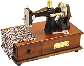 FeliciaJuan-MB Vintage Music Boxes Sewing Machine Wooden Music Box Vintage Wood Craft for Girls (Color : Picture Color, Size : 16.5X9X13CM)
