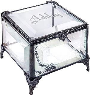 J Devlin Box 326 EB217-1 Engraved Clear Beveled Glass Box Personalized Keepsake Gift for Girl Trinket Box
