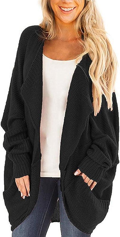 BeneGreat Womens Regular store gift Dolman Sleeve Causal Kn Sweater Open Cozy Front