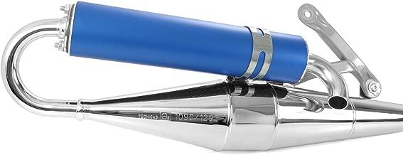 tecni Gas Next de R cromo/azul, Tuning–Escape Piaggio Liberty 50, Diesis, Fly, Free, Ntt, Quartz, S50, Storm (50ccm/2takt)