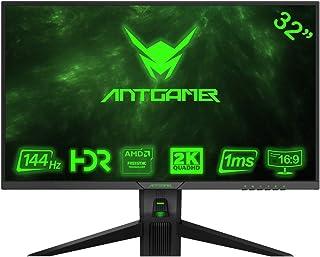 ANTGAMER Gaming M32G5Q Monitor Curvo R1800 de 83,82 cm (32 Pulgadas) (QHD, Tiempo de Respuesta de 1 ms, HDMI, DVI, DisplayPort, 144 Hz, 2560x1440 píxeles, sincronización Libre) Negro