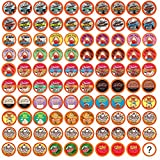 Two Rivers Coffee Flavored Coffee Pods Variety Pack Sampler, Compatible with 2.0 Keurig K-Cup Brewers, 100 Count - 40 Assorted Flavors