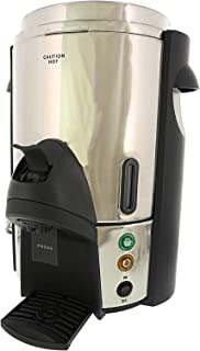 Focus Foodservice 57060 Regalware Commercial Stainless Steel Coffeemaker with One-Hand Dispensing Integrated Non-Drip Spigot, 60-Cup
