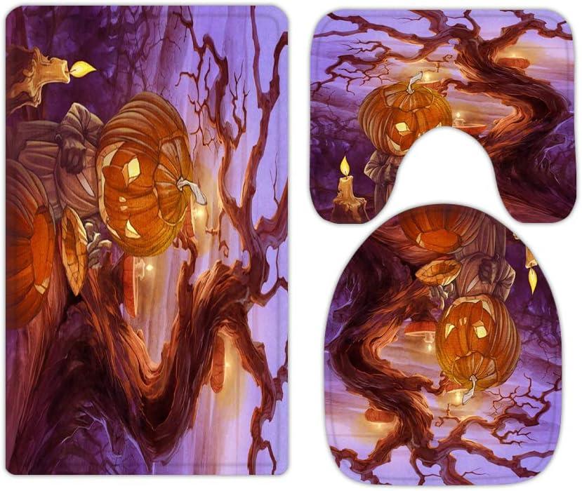 Evil Pumpkin Lantern Halloween Kids Minneapolis Mall Rugs and Bathroom NEW before selling ☆ Sets Mats