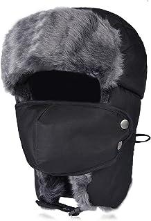 VBIGER, Unisex Sombrero de Invierno Sombrero de Felpa Sombrero a Prueba de Viento Sombrero Caliente Gorro Antipolvo Sombrero de Esquí Ciclismo