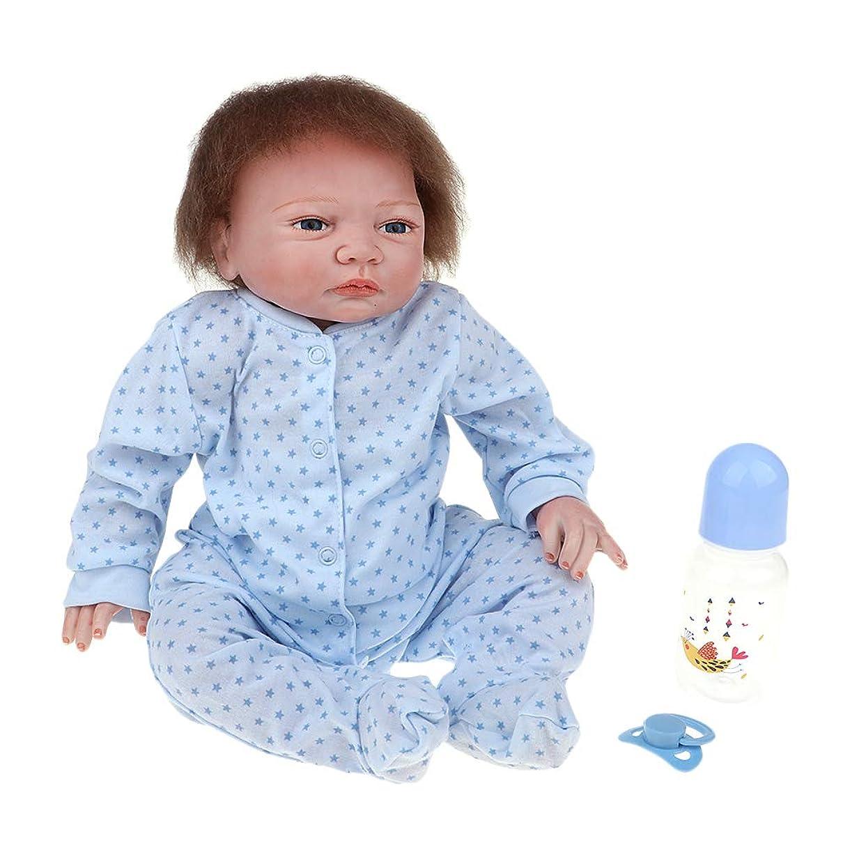突破口規模等々Baoblaze リアル 18インチビニール新生児人形 磁気おしゃぶり 哺乳瓶 衣服セット