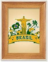 Suporte de futebol Corcovado Parrot Brazil Moldura de madeira para fotos de exibição de imagem de arte vários conjuntos