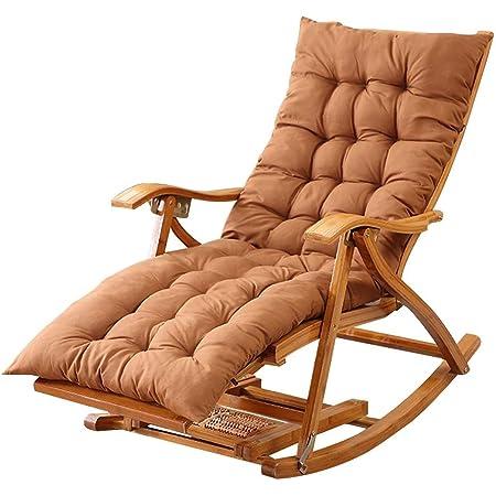 Sonnenliege Relaxstuhl Garten Outdoor Schaukelstuhl Max.150kg Klappbar Relaxsessel Schwingstuhl mit Auflage Armlehne f/ür Erwachsene Kinder Balkon Wohnzimmer