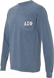 Delta Sigma Phi Fraternity Comfort Colors Pocket Long Sleeve Shirt