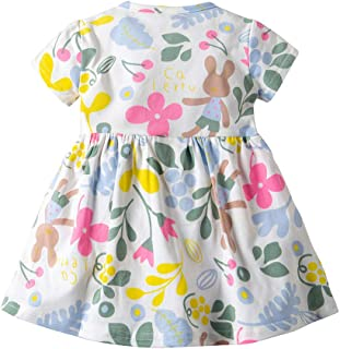 TOOPOOT-Baby Girls Dress,Kids Baby Grils Floral Flower Print Dress Outfits Clothes