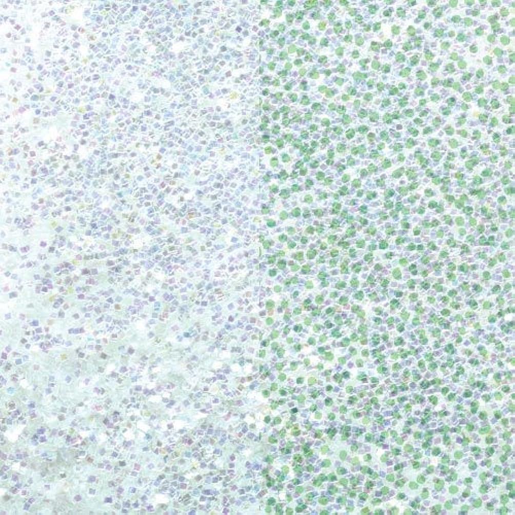 無知きれいに慢なピカエース ネイル用パウダー ラメオーロラ 耐溶剤 S #631 Wグリーン 1g