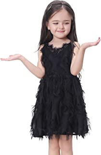 Girls Black Lace Dress Summer Casual Dress for 1-8 Years Old Toddler Dress