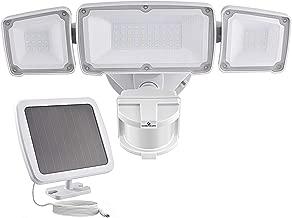 GLORIOUS-LITE Solar Security Light Outdoor, 1600LM Solar LED Motion Sensor Light with 3 Adjustable Head, 6000K, IP65 Waterproof Flood Light for Backyard, Pathway & Patio